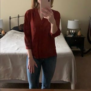 H&M Rust-colored 3/4 Sleeve Shirt